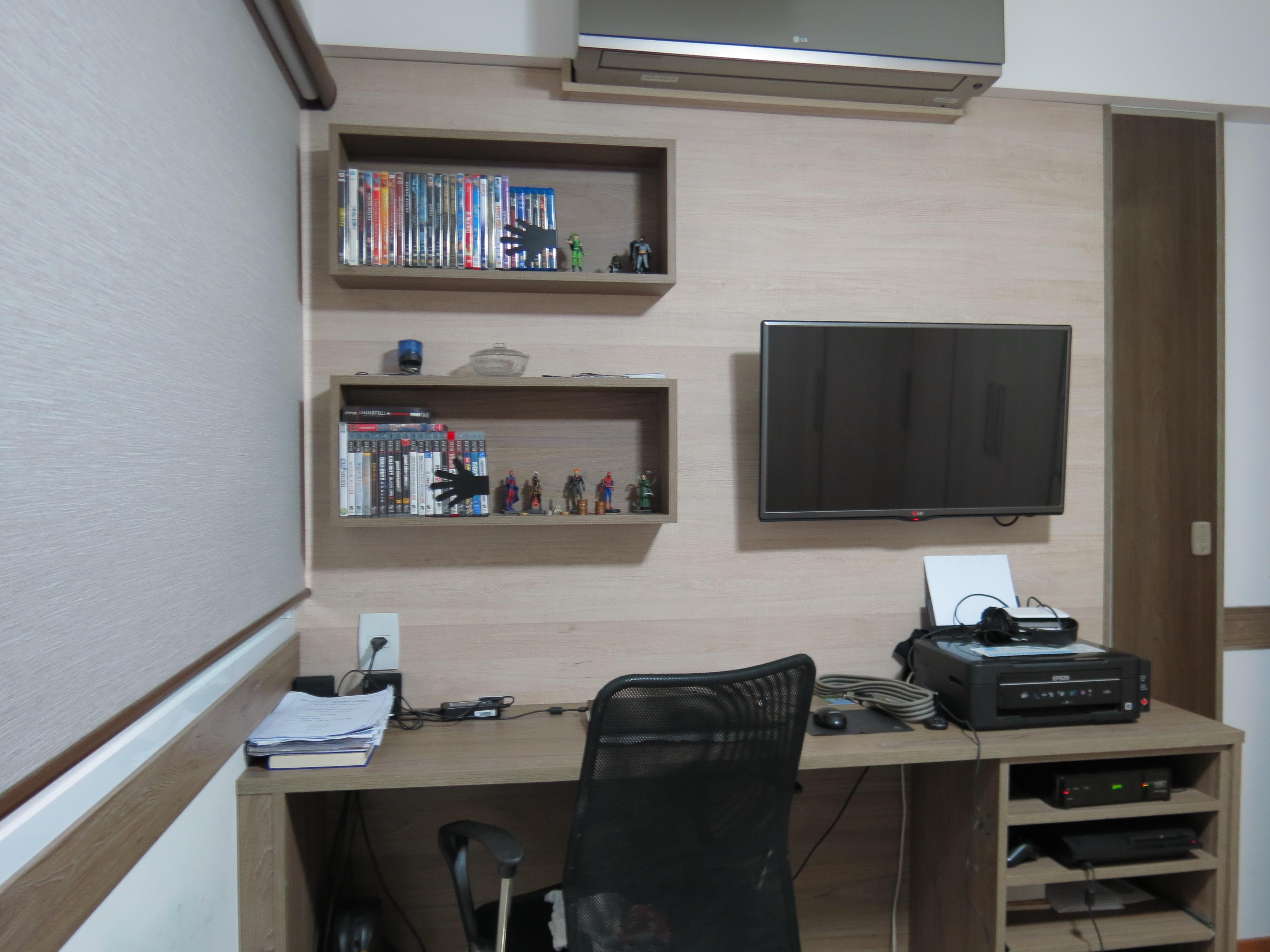 Bancada Para Notebook Quarto Redival Com ~ Painel Para Tv Quarto Com Bancada